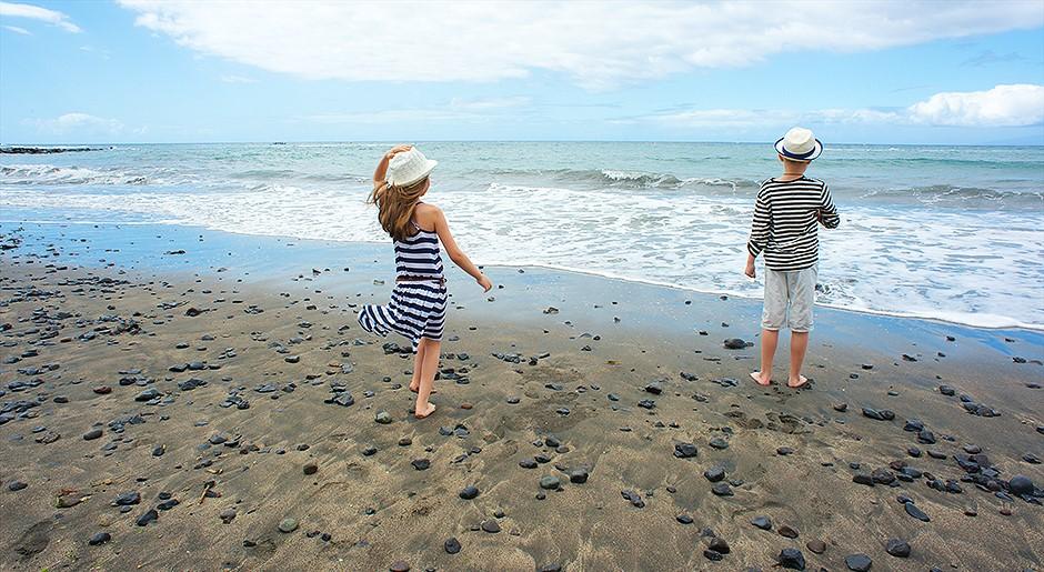 с детьми на пляжах тенерифе