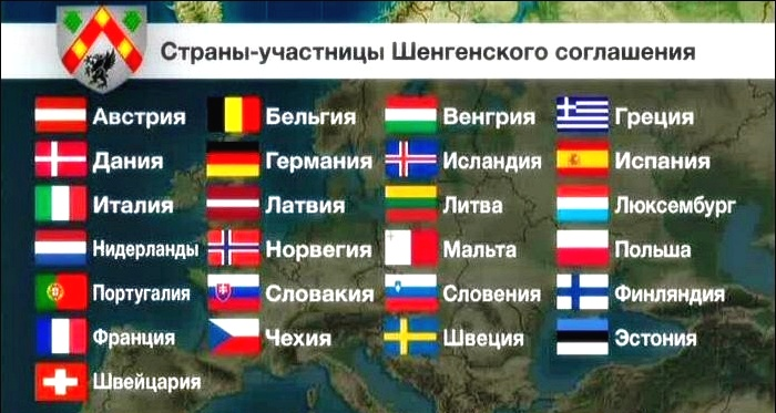 европейские страны шенген