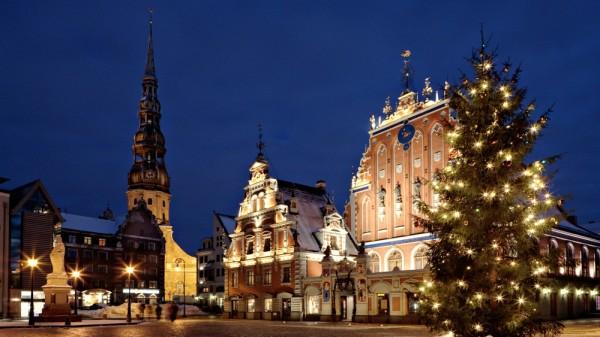 Латвия Рига Рождество